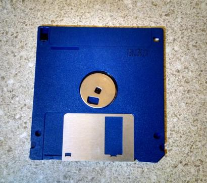 back of floppy disk