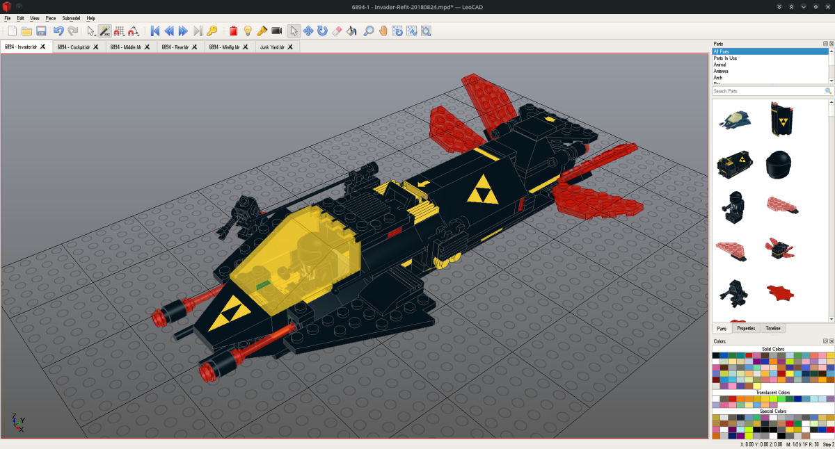 LeoCAD | Free LEGO® CAD Software on openSUSE Linux