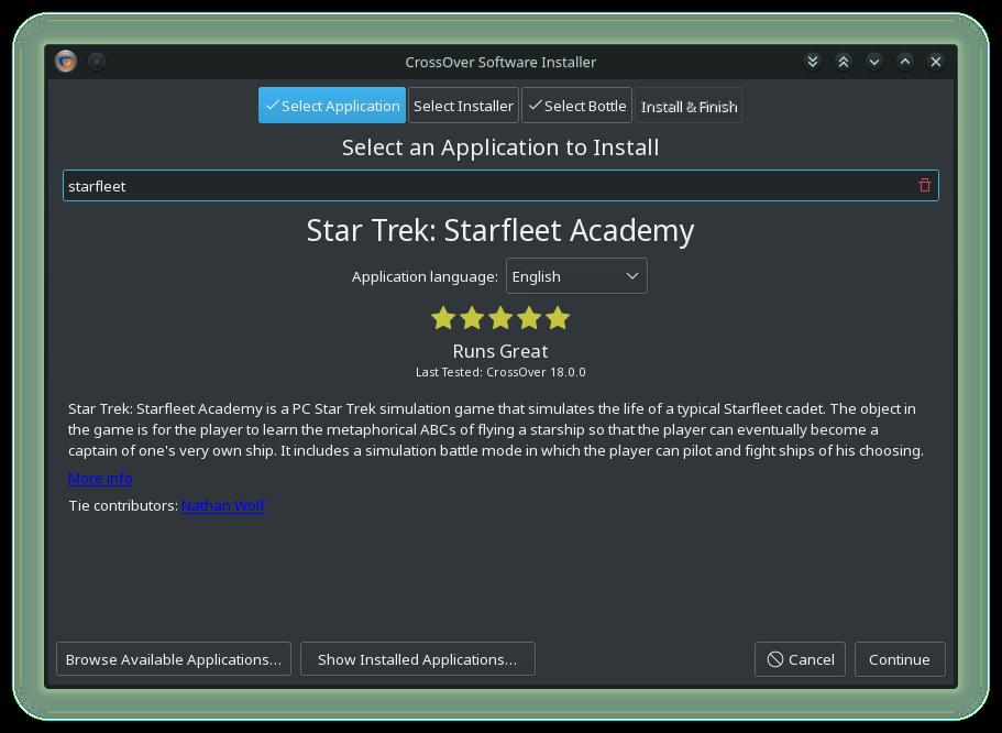 CrossOver Linux-02-StarTrek_Starfleet_Academy