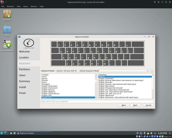 NeptuneOS-10-Keyboard Layout