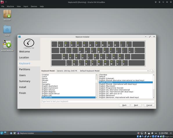 NeptuneOS-11-Keyboard Dvorak