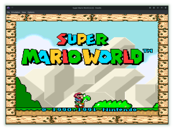 Snes9x Welcome Super Mario World-01
