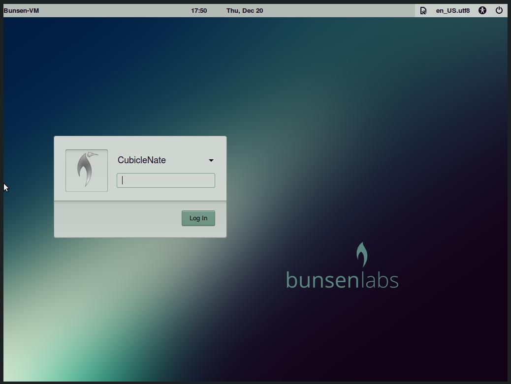 BunsenLabs-19-Login Screen