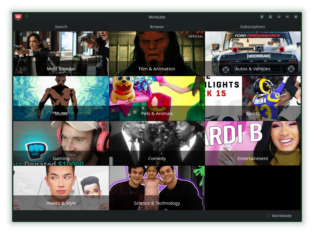 Minitube a YouTube Application on openSUSE – CubicleNate's