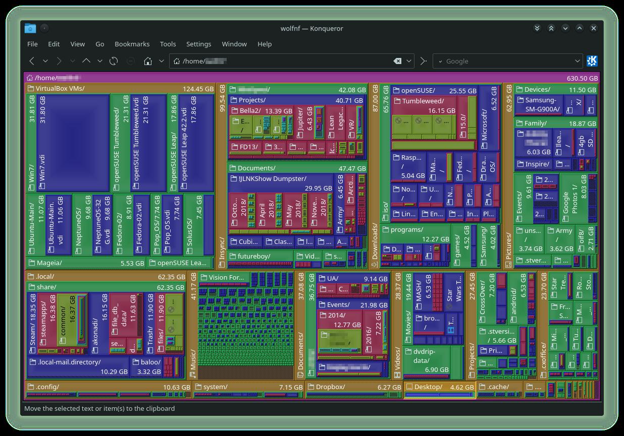 Konqueror File Size View
