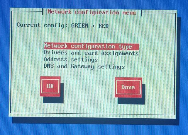 ipfire-08-network configuration menu