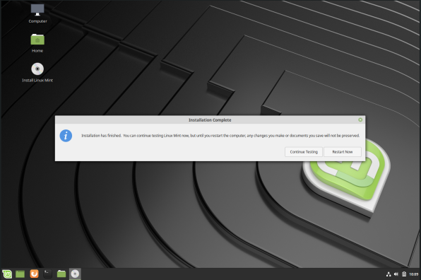 linuxmint-11-post install restart