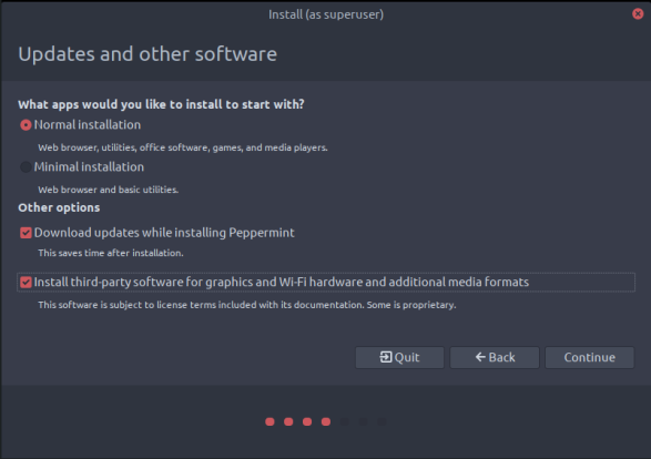 peppermintos-04-updates and other software