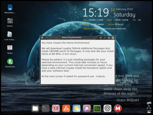 MakuluLinux-06-Home Environment Notice
