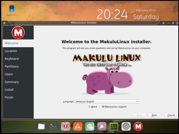 MakuluLinux-08-Installer Welcome American English