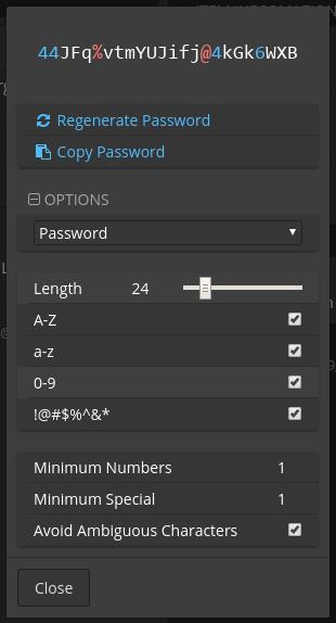 Bitwarden-02-Password Generator