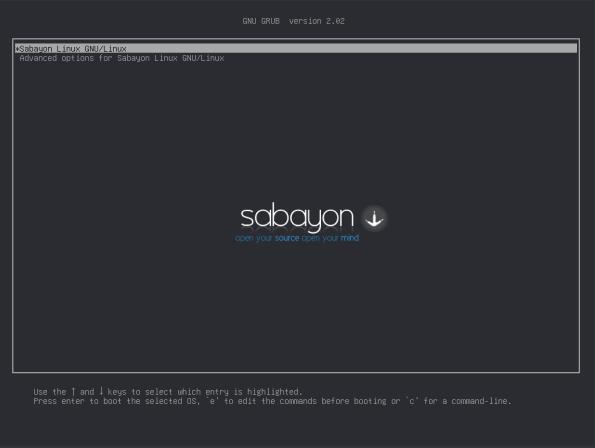 Sabayon-10-Grub First Boot