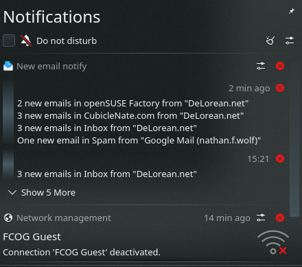 KDE Plasma 5.16.0 Notification