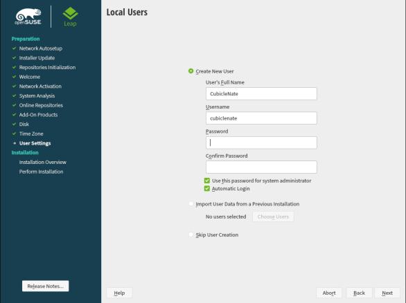 openSUSE Leap 15.1 Installation 21