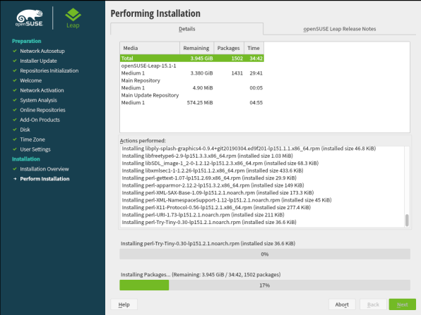 openSUSE Leap 15.1 Installation 28