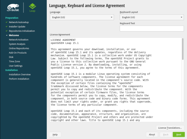 openSUSE Leap 15.1 Installation 6