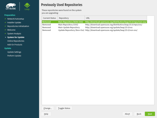 openSUSE Leap 15.1 Upgrade 4
