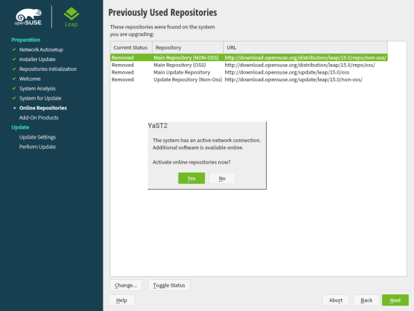 openSUSE Leap 15.1 Upgrade 5