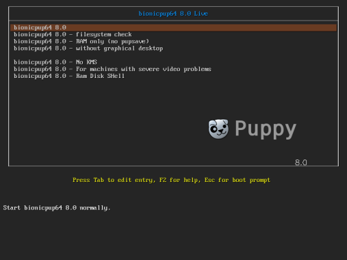 PuppyLinux VM 1