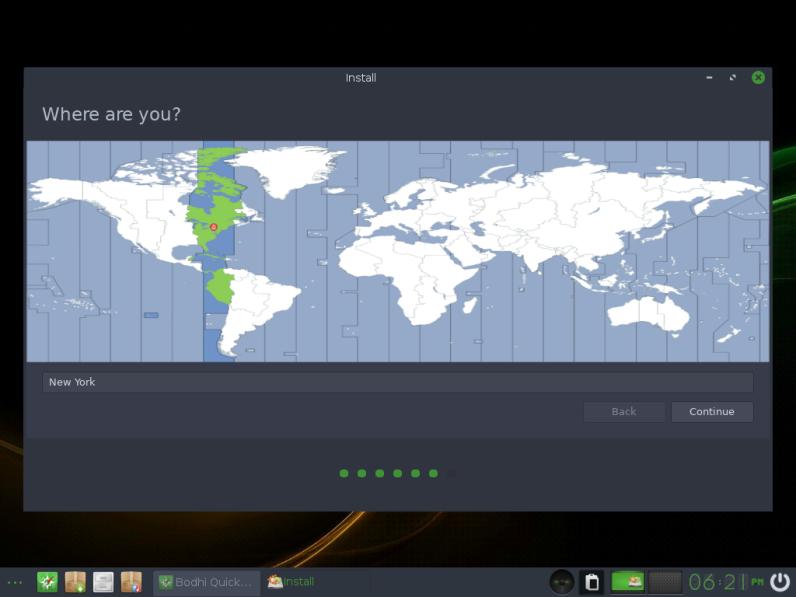 Bodhi Linux 12 Installatin Location